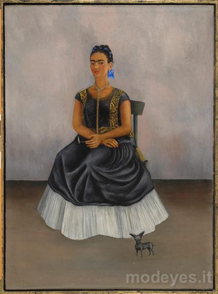15-frida-kahlo-autoritratto-con-cane-itzicuintlia