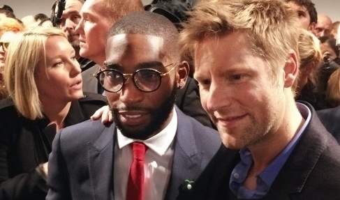 Christopher Bailey and Tinie Tempah (backstage at the Burberry Prorsum Womenswear S/S2014)
