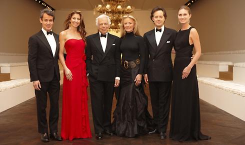 Ralph Lauren e la sua famiglia, recentemente a Parigi