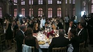 Un momento della cena di gala alla Scuola di Belle Arti a Parigi