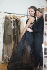 Miss Italia 2012 posa con la stilista Daniela Del Cima.