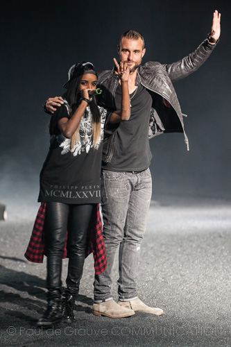 Philipp Plein e Angel Haze - Fashion Show in Milan (ph: D. Munegato / Paul de Grauve Communication)