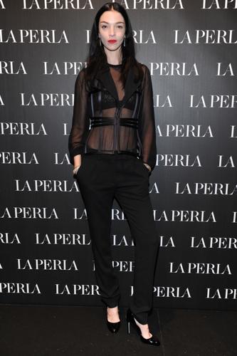la modella Mariacarla Boscono - Opening La Perla Milano
