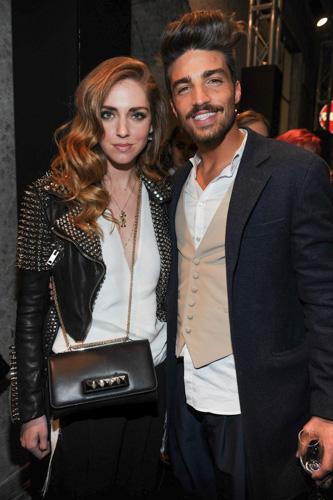 Chiara Ferragni e Mariano Divaio (fashion blogger) - Opening LA PERLA Milano