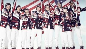 Alcuni Atleti della squadra olimpica Americana , con le nuove divise