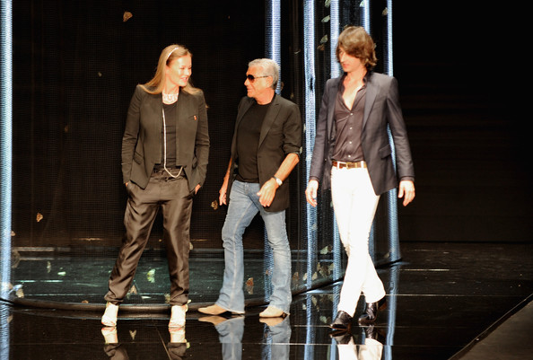 Eva Düringer e Roberto Cavalli insieme al figlio Daniele Cavalli