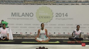 Xuan-Lan Trinh, Anna Inferrera e Giselle Bridger – free YOGA by Oysho Milano 2014 (ph PAUL de GRAUVE COMMUNICATION)